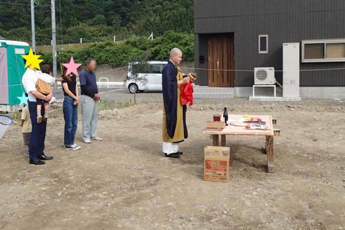 仏式による地鎮祭